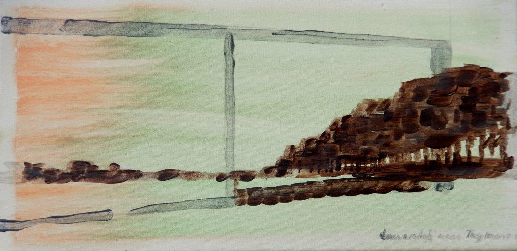 Kanaal naar Luc Tuymans. Te zien in Galerie T.